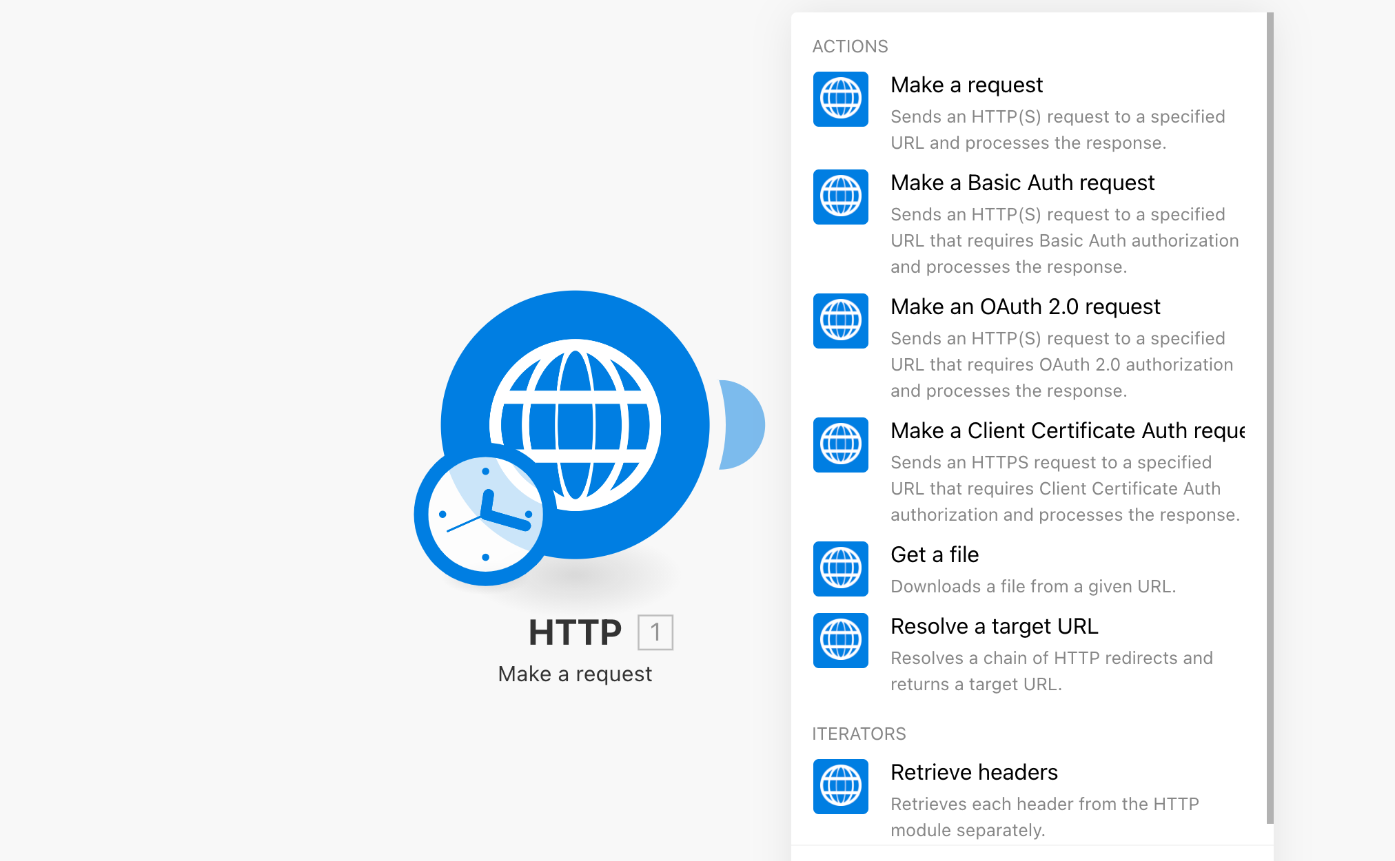 HTTPアプリとモジュール
