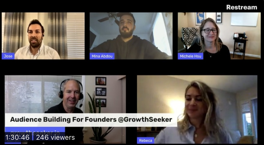 Audience Building For Founders - takeaways from a live stream session with 6 guests