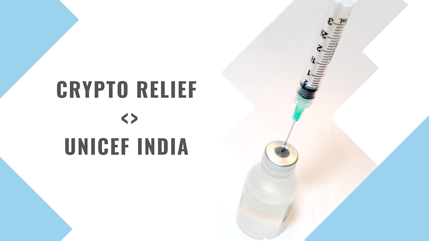 Crypto Relief partners with UNICEF India