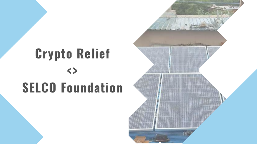 Crypto Relief partners with SELCO Foundation to Strengthen Health Infrastructure with Sustainable Energy Solutions