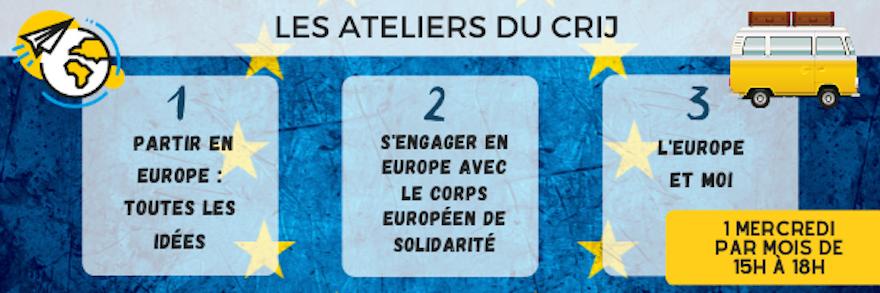 3 ateliers pour vous informer sur les opportunités en Europe et ailleurs