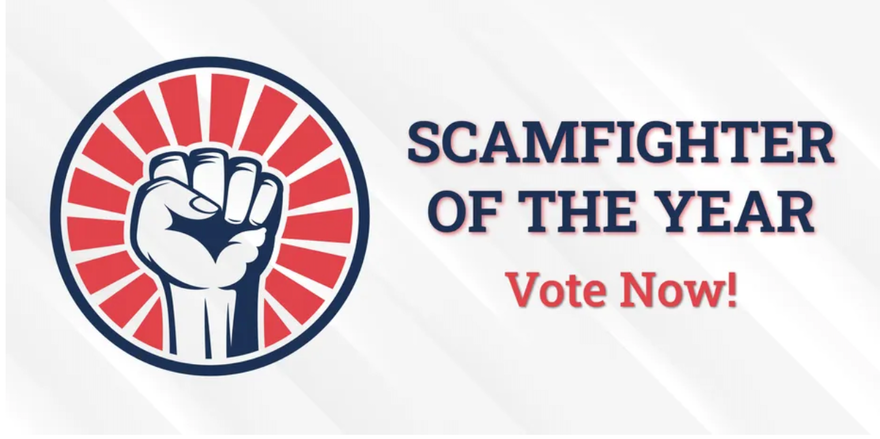 iQ nominated for Scamfighter Organization of the Year