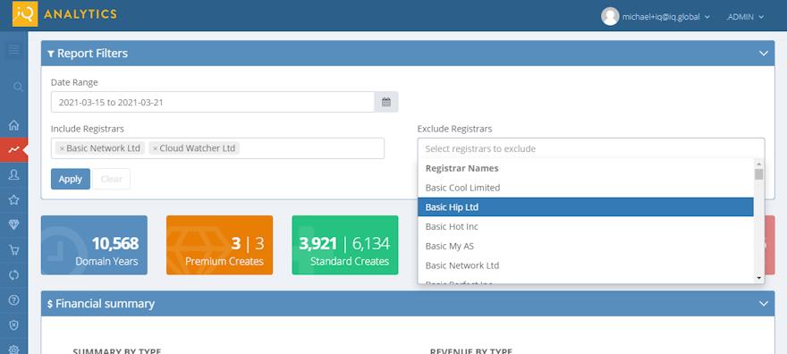 Domain Analytics: Dashboard and Date Range Report updates