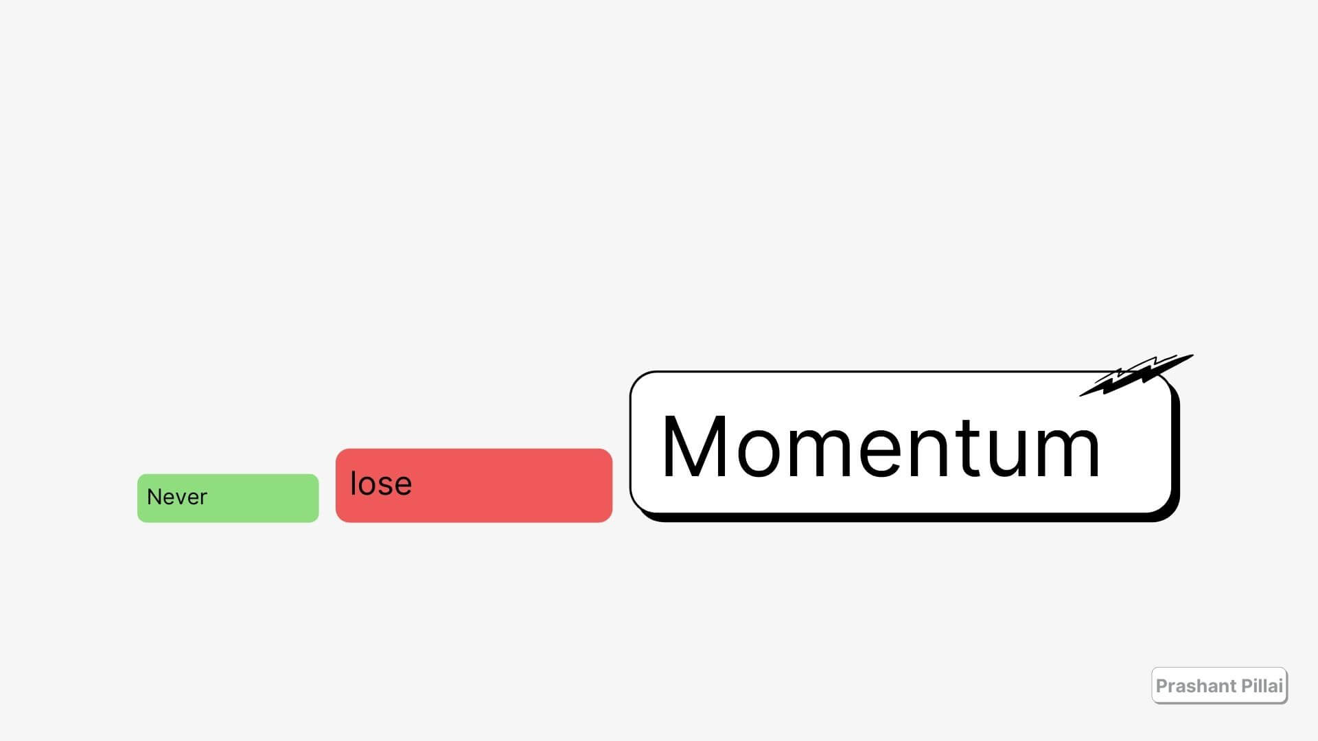 momentum is everything
