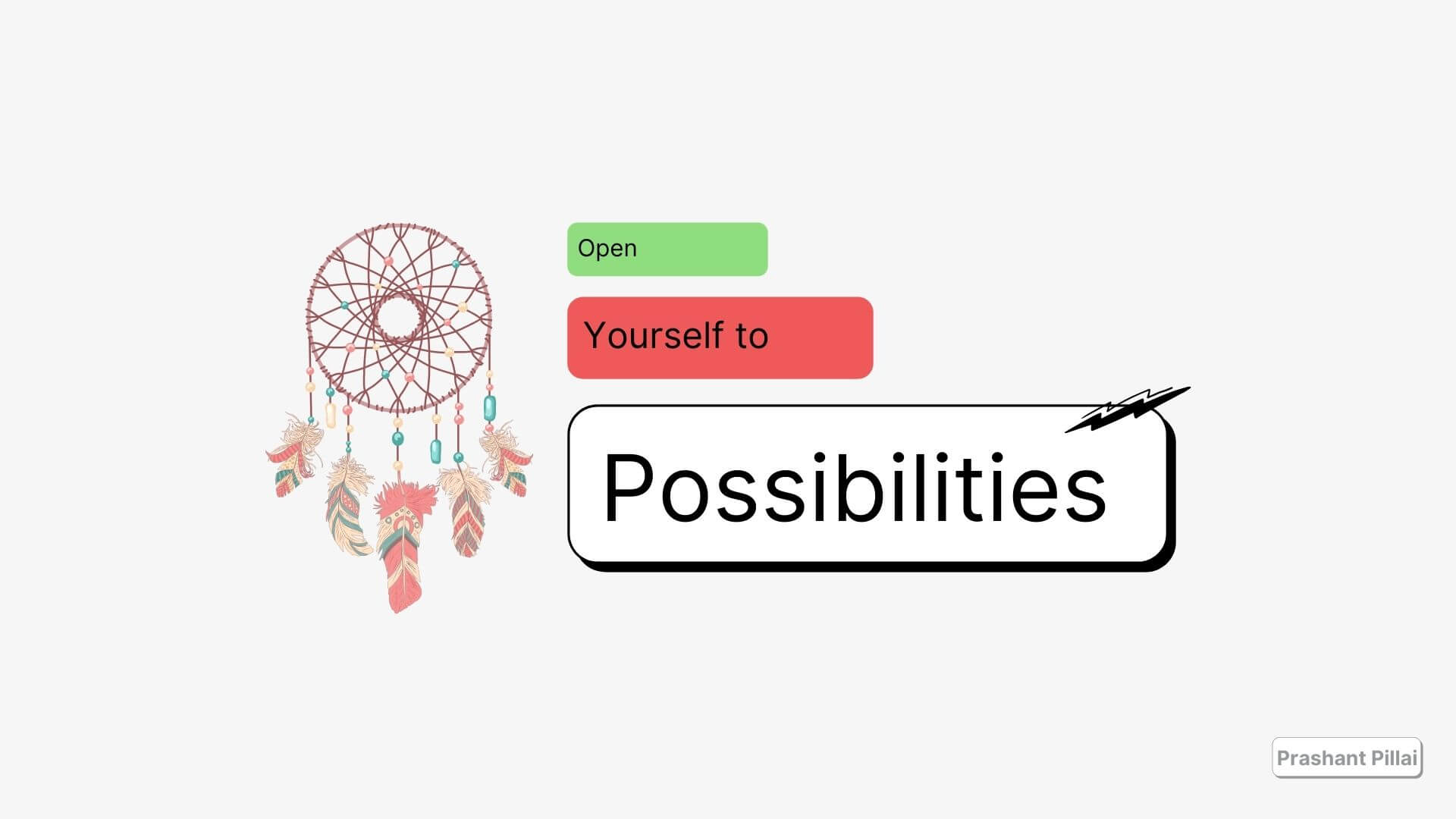 open yourself to possibilities illustration