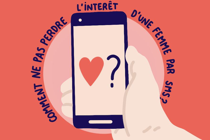Comment ne pas perdre l'intérêt d'une femme par SMS ?