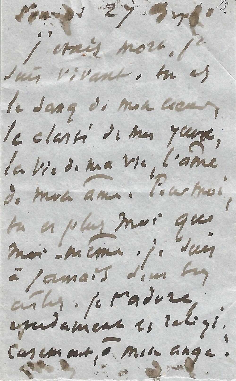 passion - amour - lettre - écrit - philosophe - écrivain - connues - déclaration