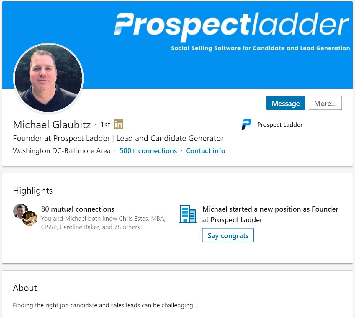 Mike LinkedIn Profile Snip.PNG