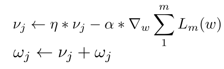 Momentum Optimizer equation.png