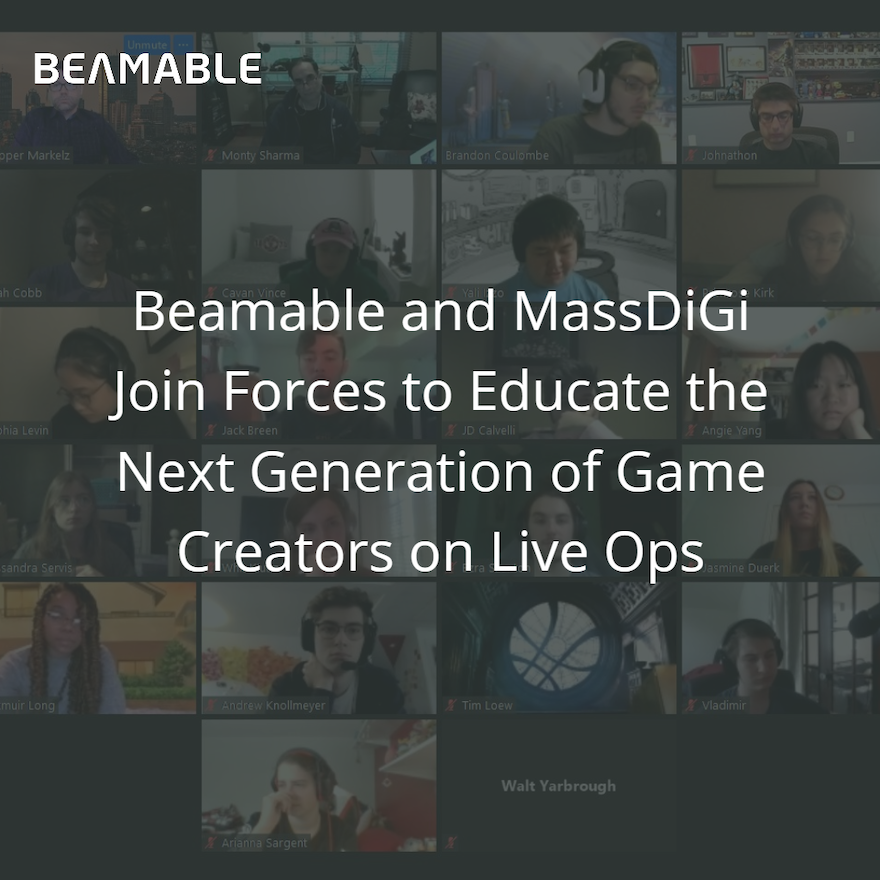 Beamable and MassDiGi Join Forces to Educate the Next Generation of Game Creators on Live Ops