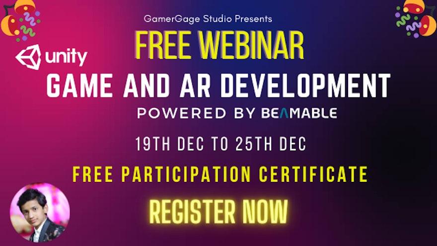 Beamable sponsoring the GamerGage Game and AR Development Webinar Series