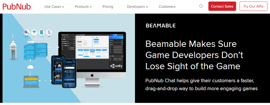 Beamable runs on PubNub