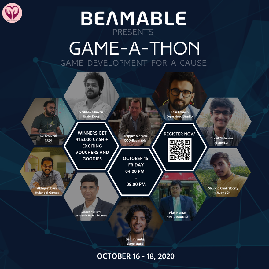 Beamable sponsoring a Game-A-Thon Game Jam in India