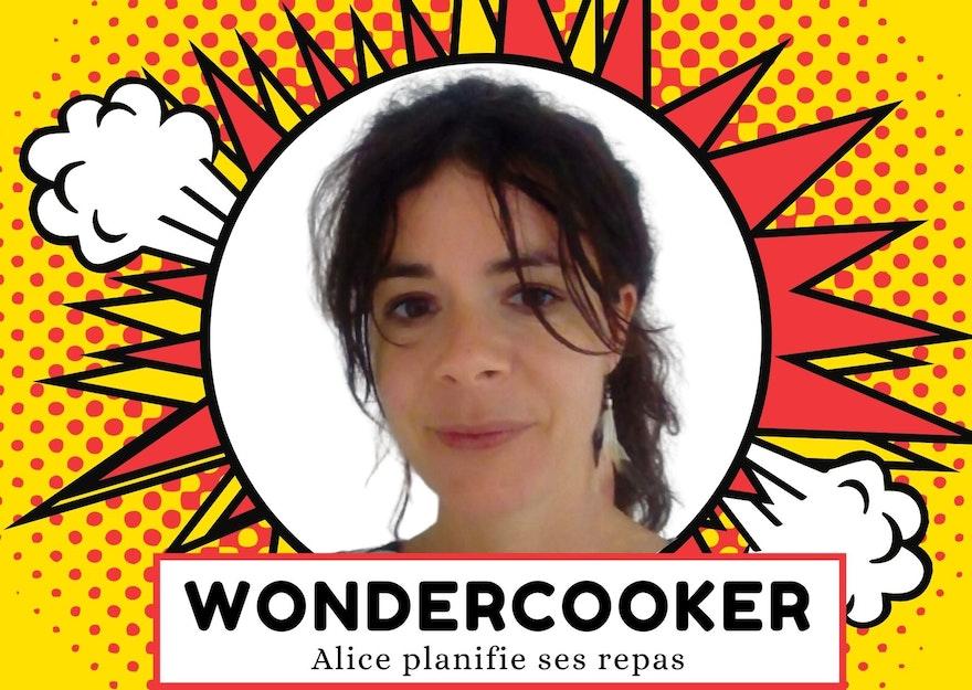 Wondercooker : Alice planifie ses repas