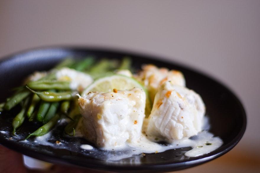 Filet de Lotte sauce inratable au citron vert