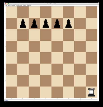 Pawns vs Rook mini-game