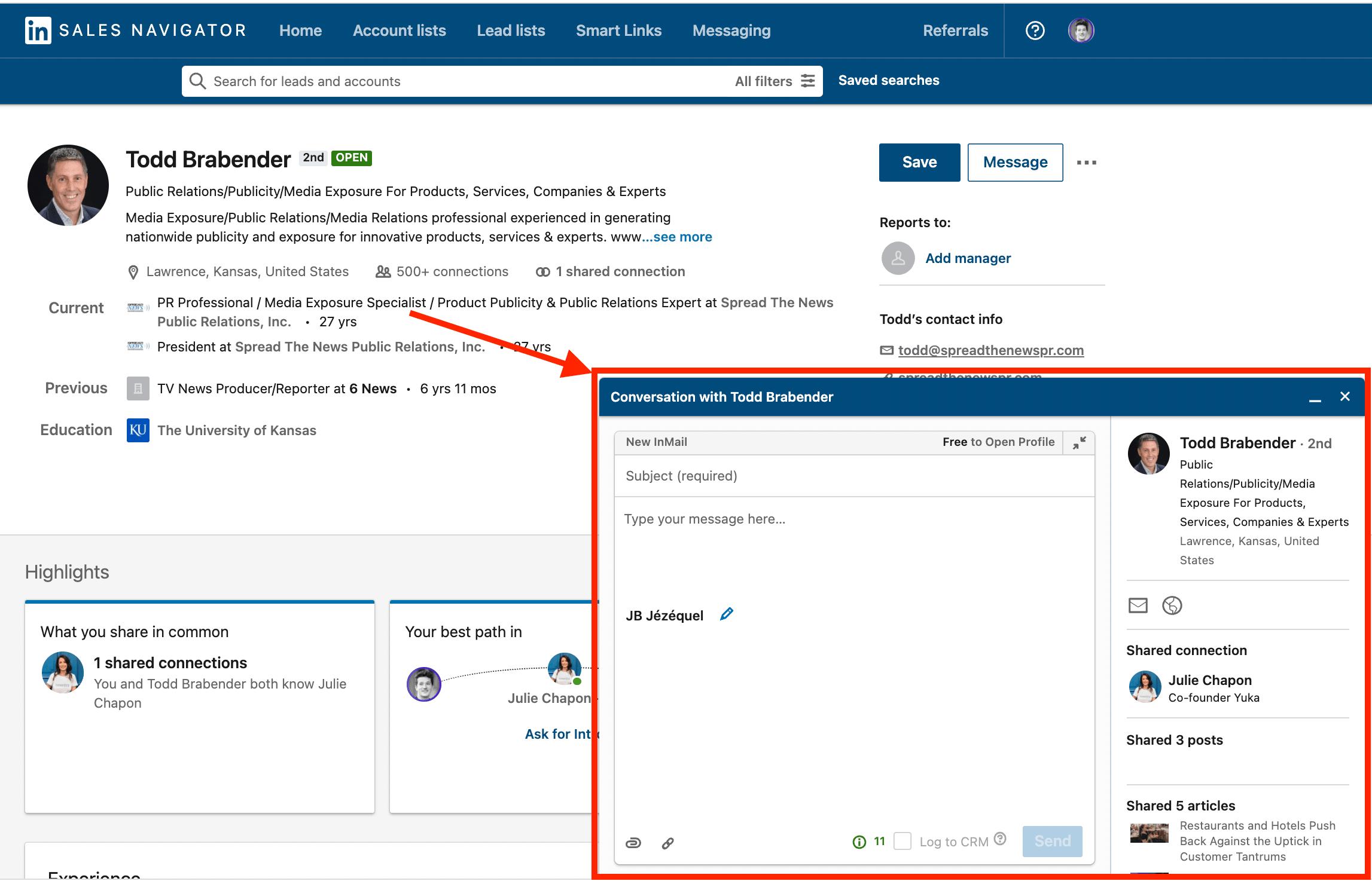 inmail credits sales navigator
