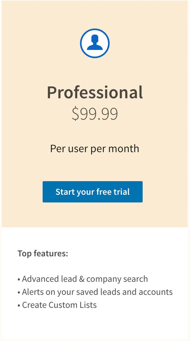 sales navigator professional price