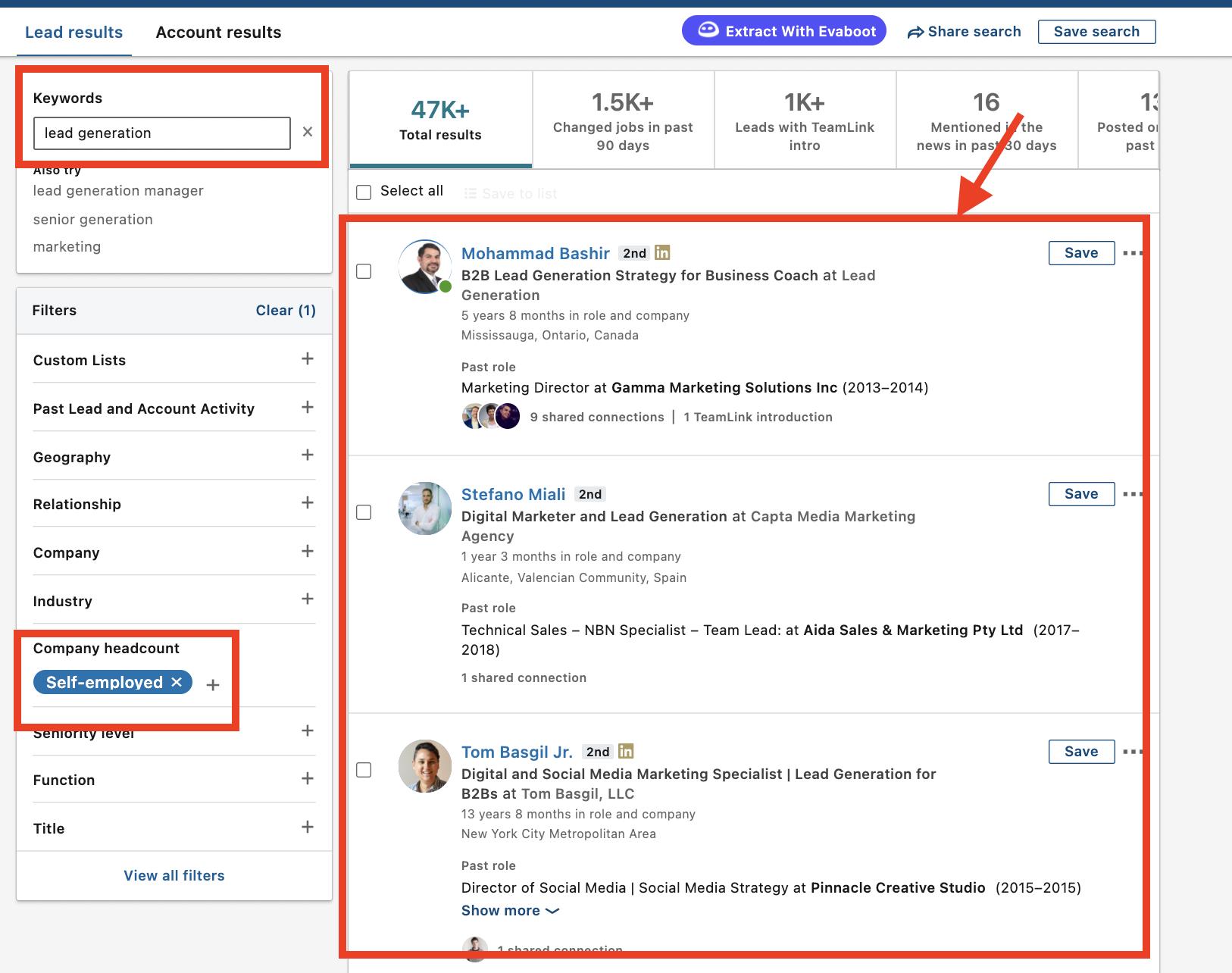 optimize linkedin profile for keyword research