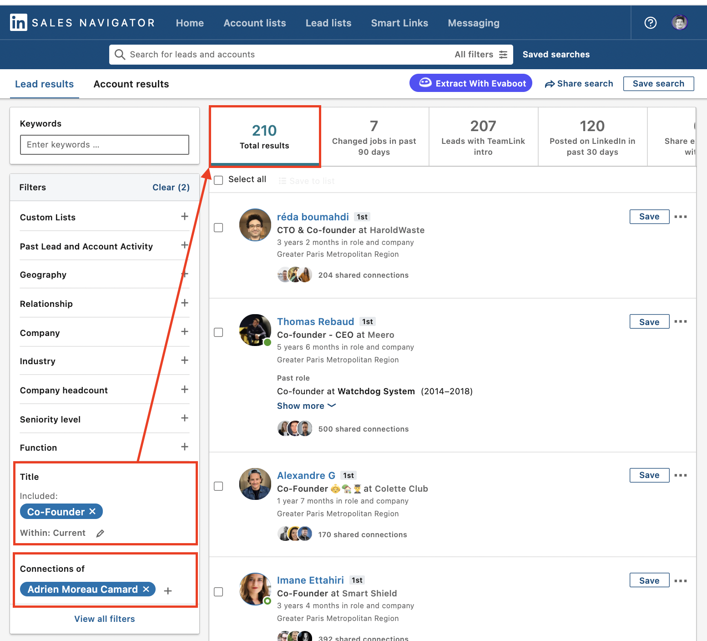 sales navigator search engine