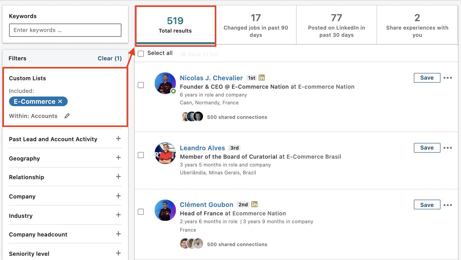 how custom list filter works