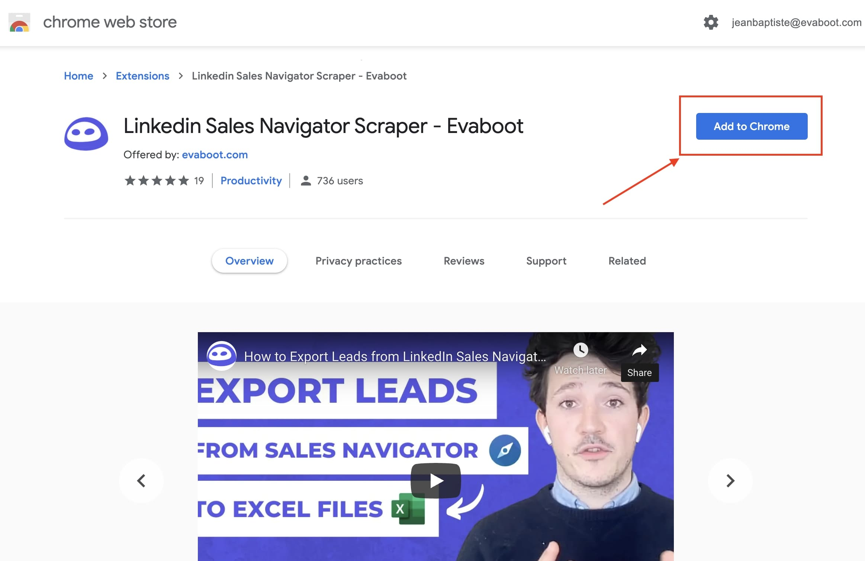 linkedin sales navigator chrome extension