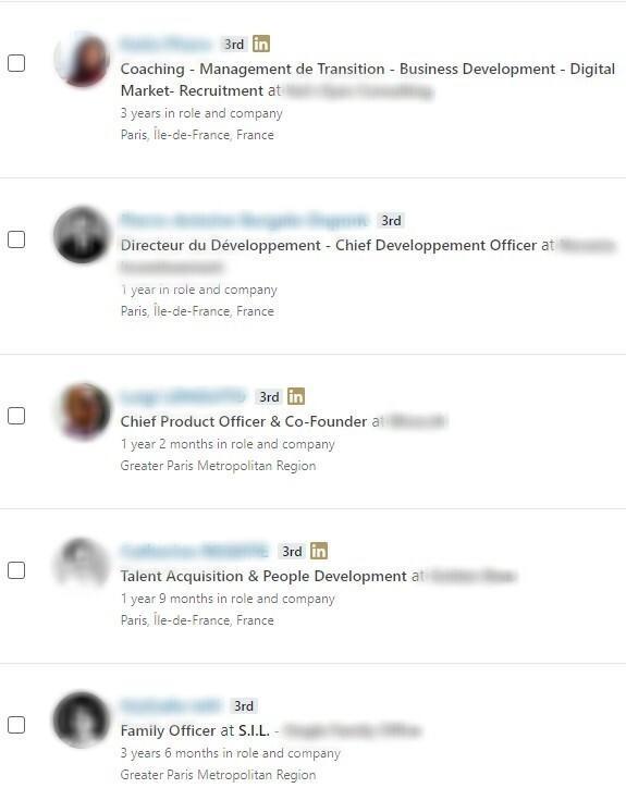 wrong sales navigator results example