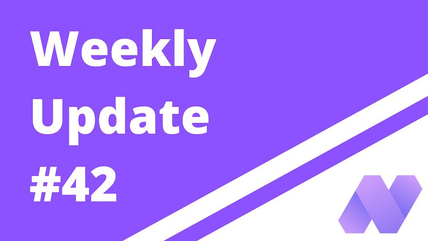Weekly update #42 (For Pioneer)