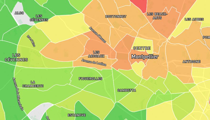 Prix m2 Montpellier (34000) 2021 : estimation et carte des prix