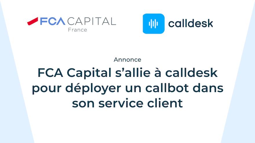 FCA Capital France déploie un assistant vocal intelligent pour améliorer l'accueil de ses clients au téléphone