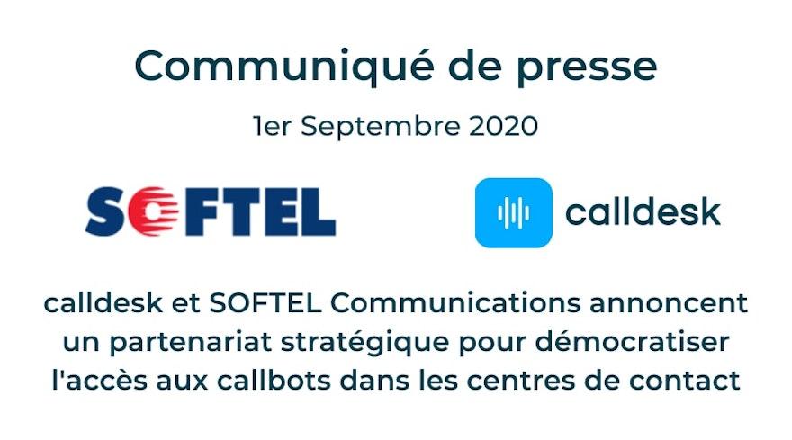 calldesk et SOFTEL Communications annoncent un partenariat stratégique