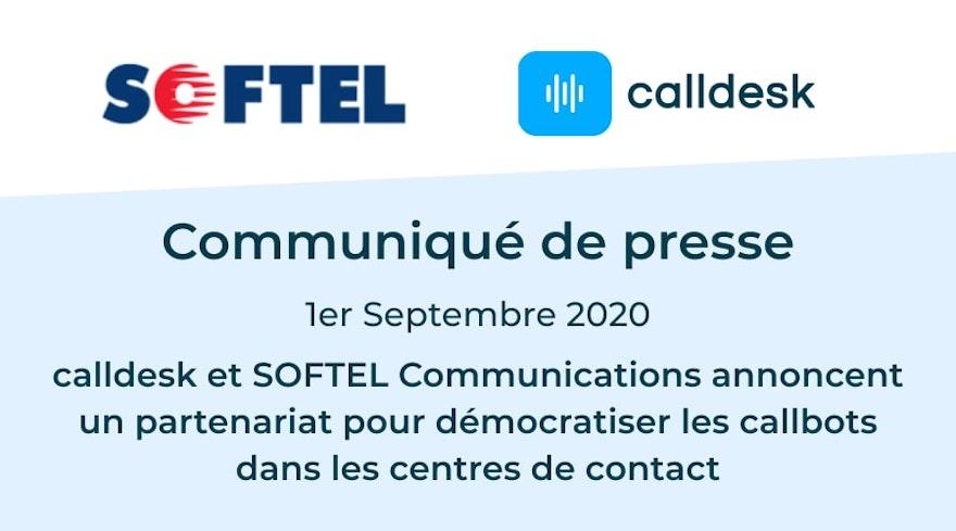 calldesk et SOFTEL Communications annoncent un partenariat