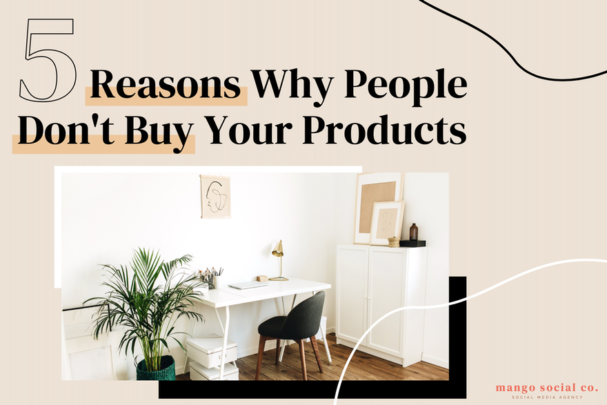 The Five Reasons Why People Don't Buy Your Products