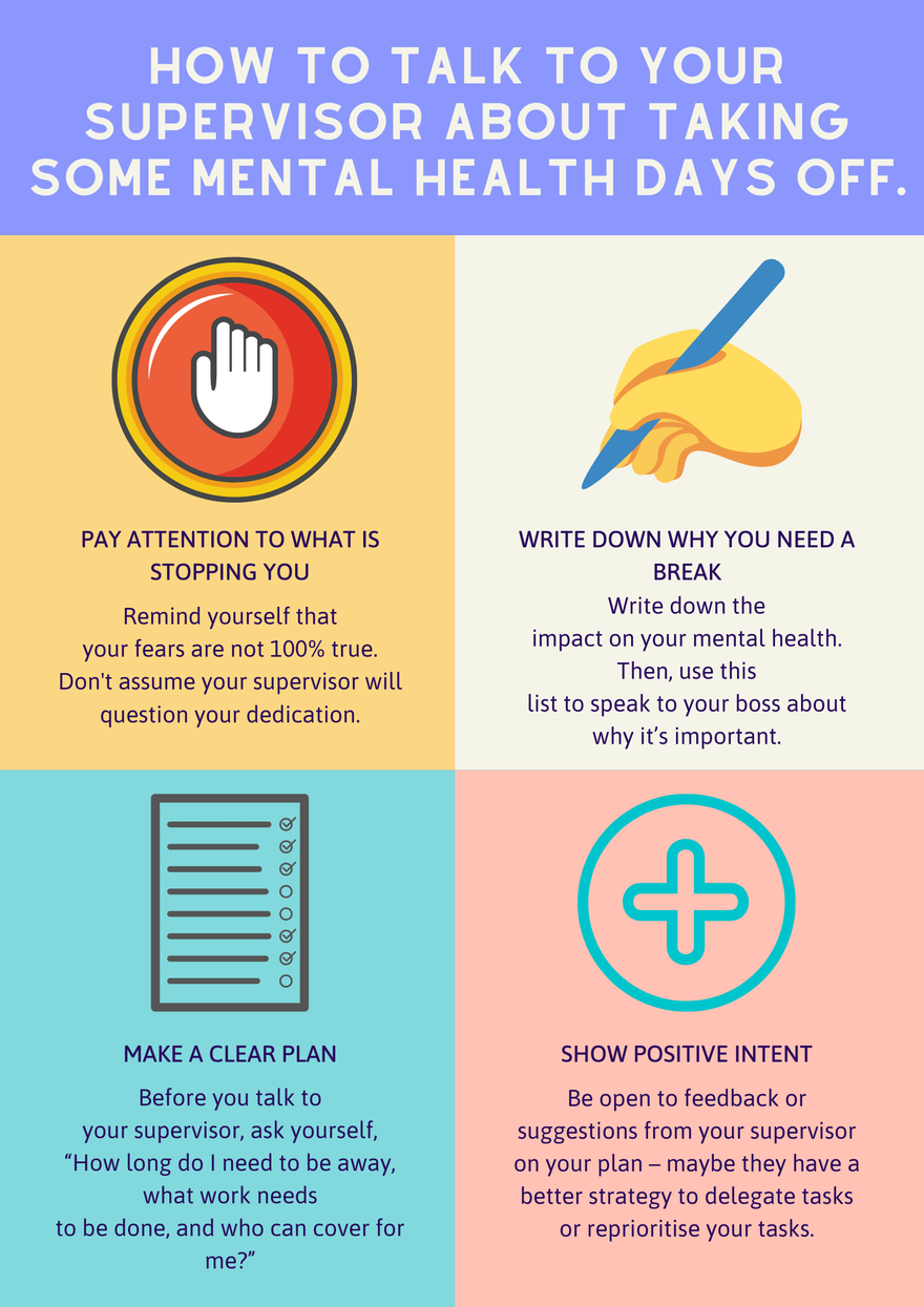 How to talk to your supervisor about taking some mental health days off