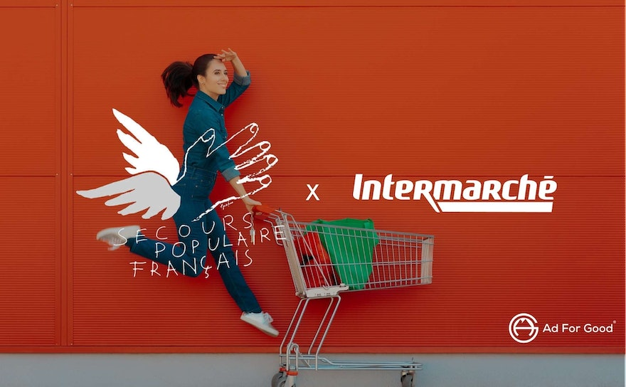 How, during the global pandemic, the brand Intermarché has supported the NGO Le Secours Populaire ❤️
