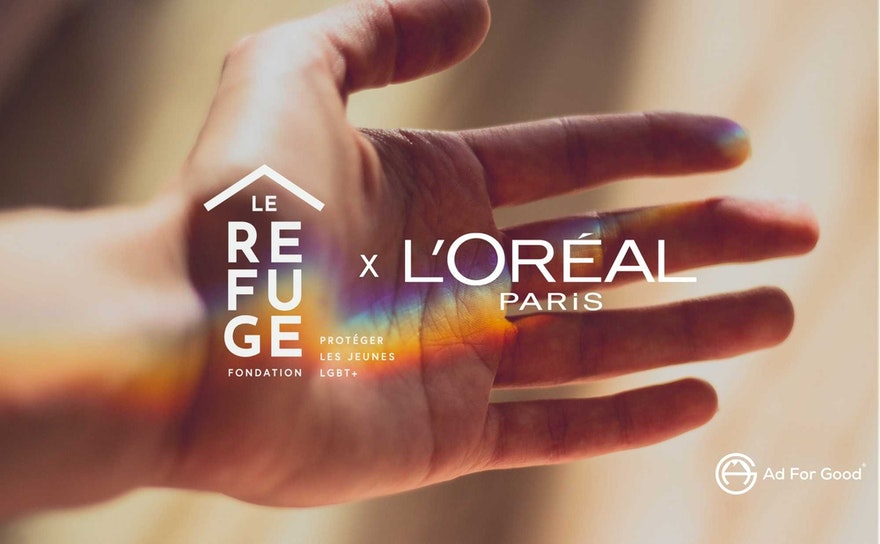 How does L'Oréal make its media buying more responsible with the Ad For Good® label and the Marie Claire Group?