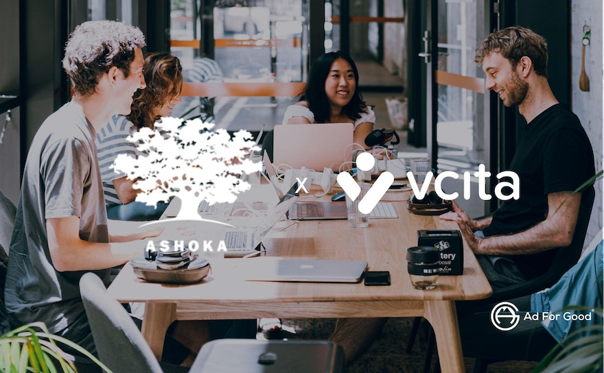 How the US brand, Vcita, has supported through their social media advertising campaign, the NGO Ashoka during the Global Entrepreneurship Week