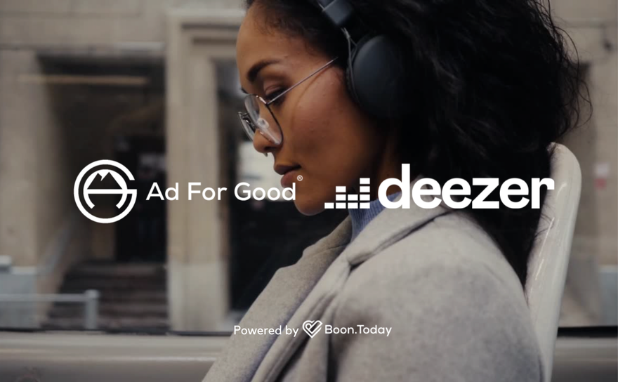 Deezer is the first audio streaming service in the world to join the socially conscious Ad For Good label
