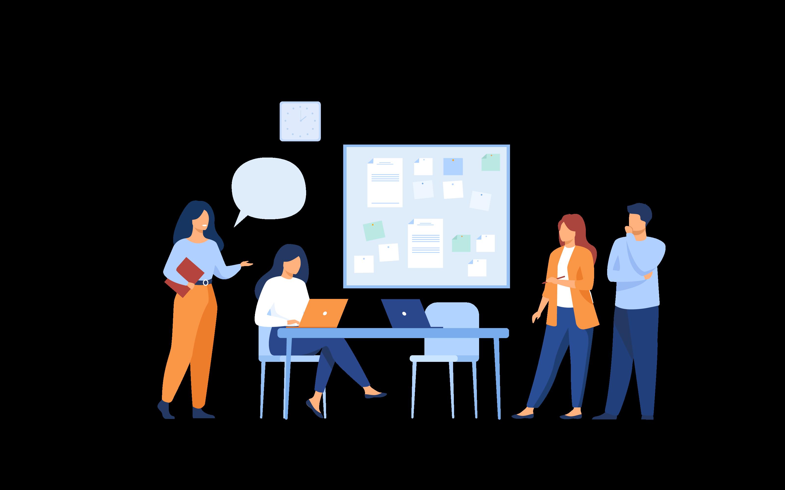 Dessin Equipe Développeuses web