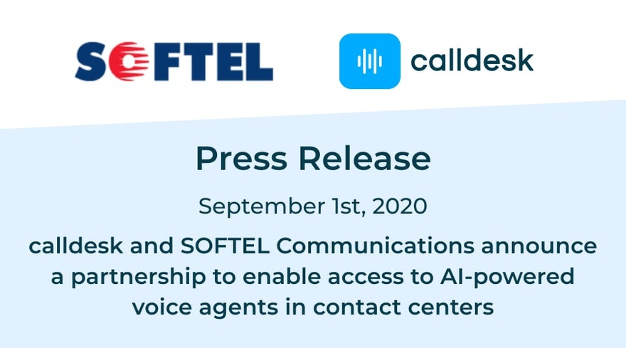 calldesk and SOFTEL Communications announce a partnership