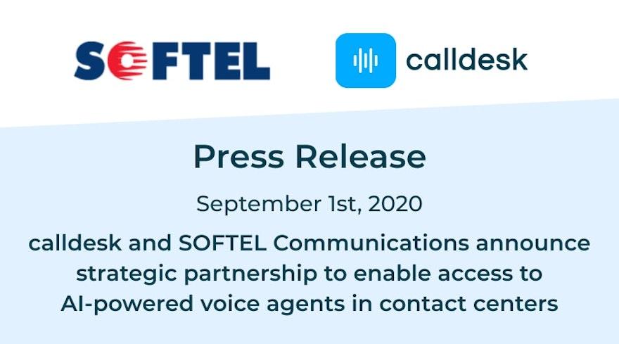 calldesk and SOFTEL Communications announce strategic partnership