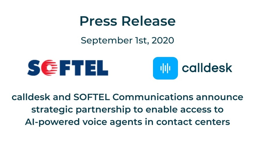 calldesk and SOFTEL Communications announce strategic partnership