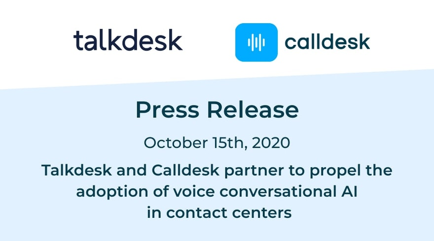 Talkdesk and Calldesk partner to offer voice conversational AI in contact centers