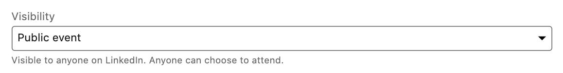 LinkedIn Public Event