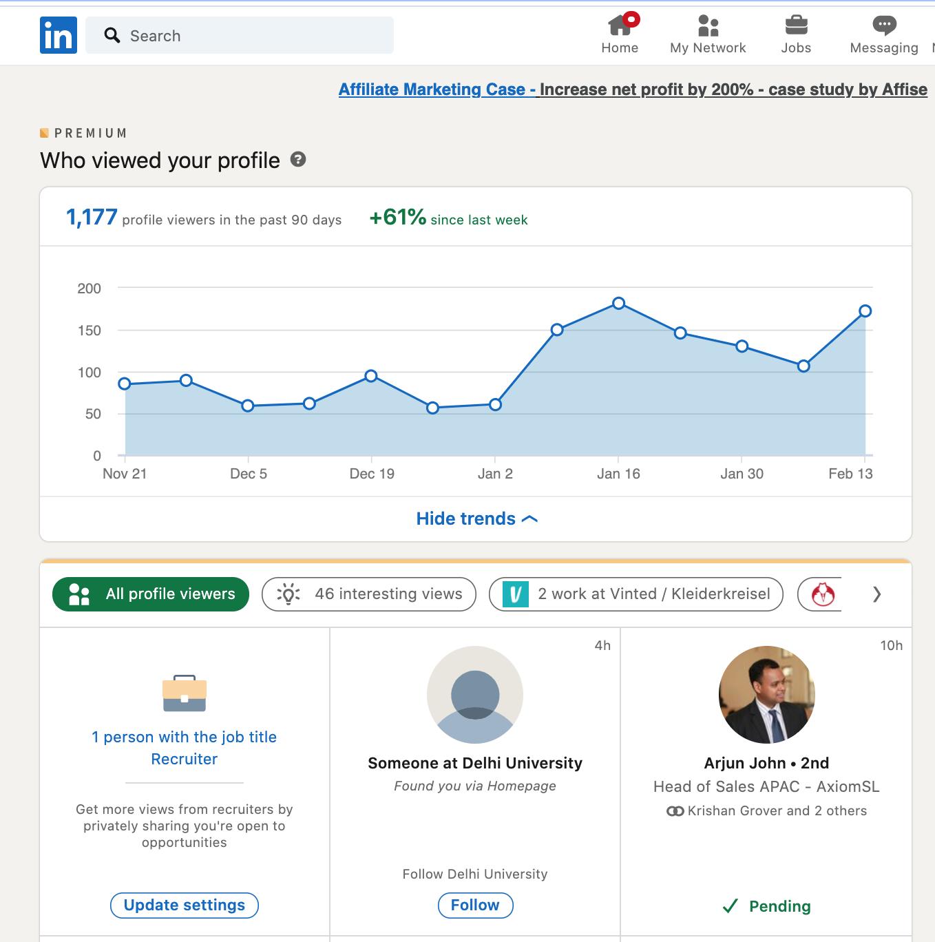LinkedIn Profile Views