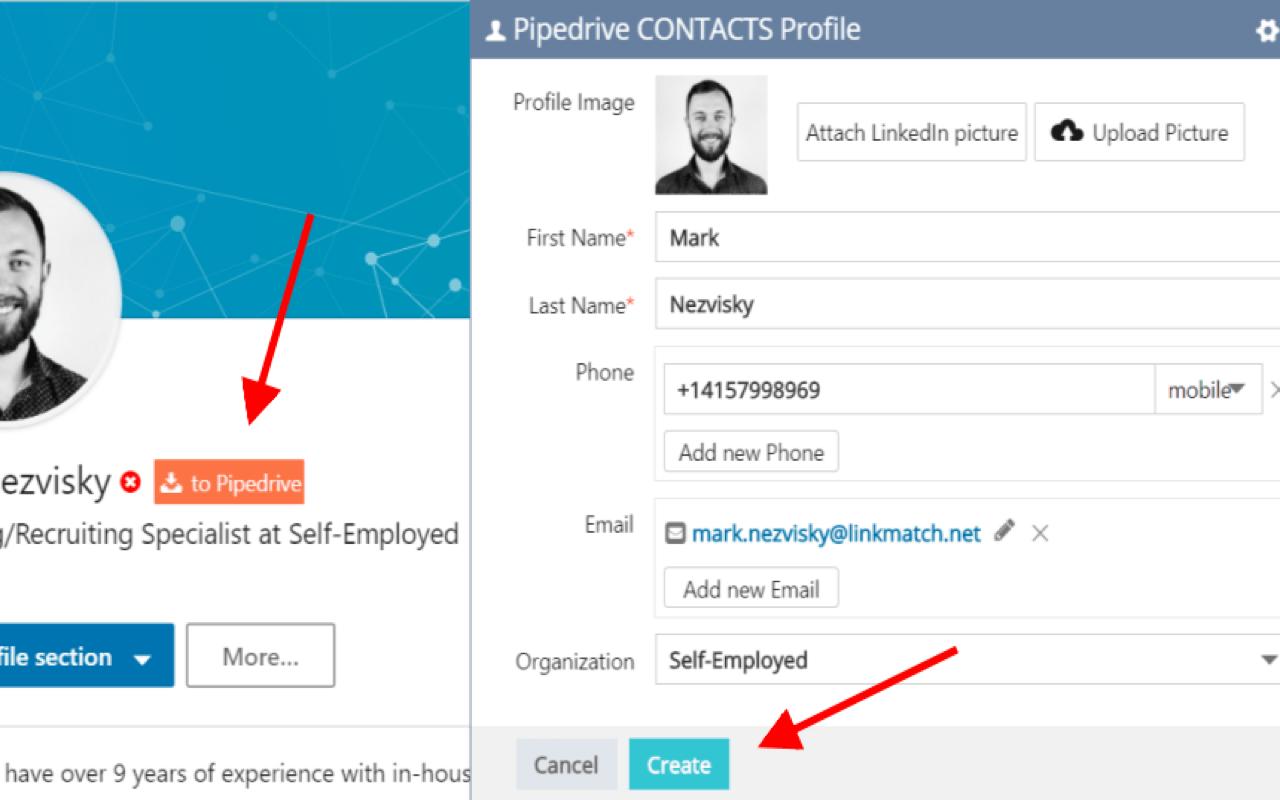 Linkmatch Pipedrive Linkedin
