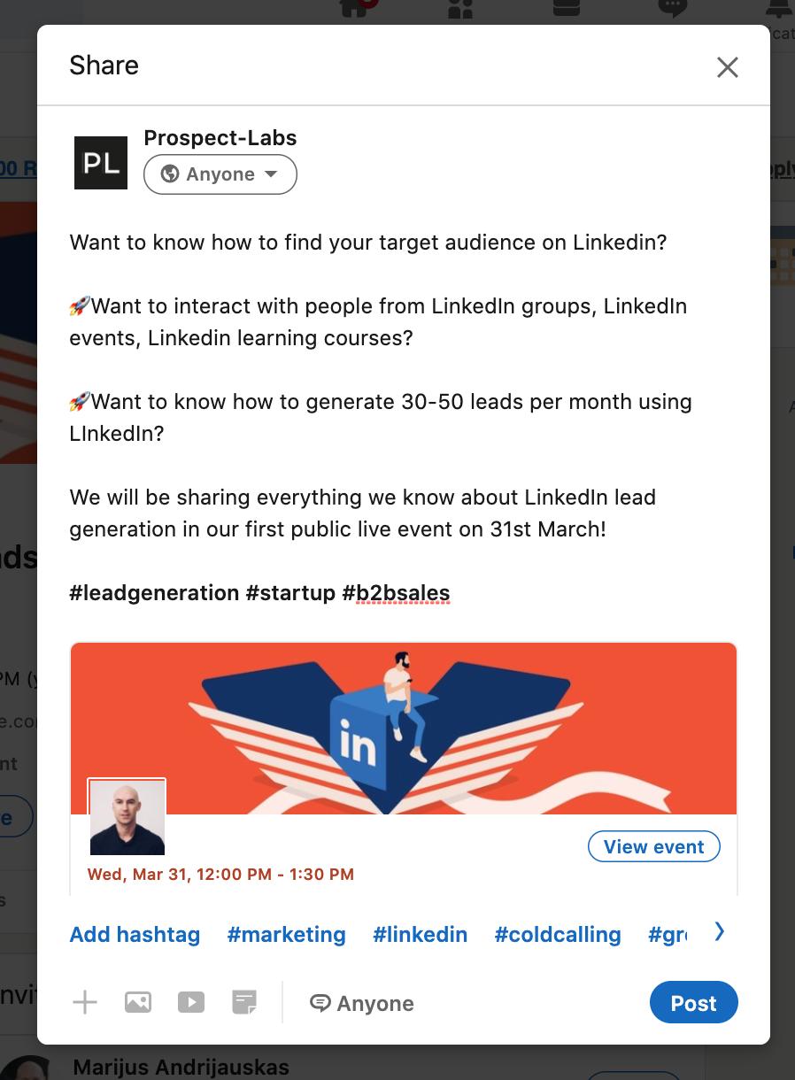 Prospect Labs LinkedIn event