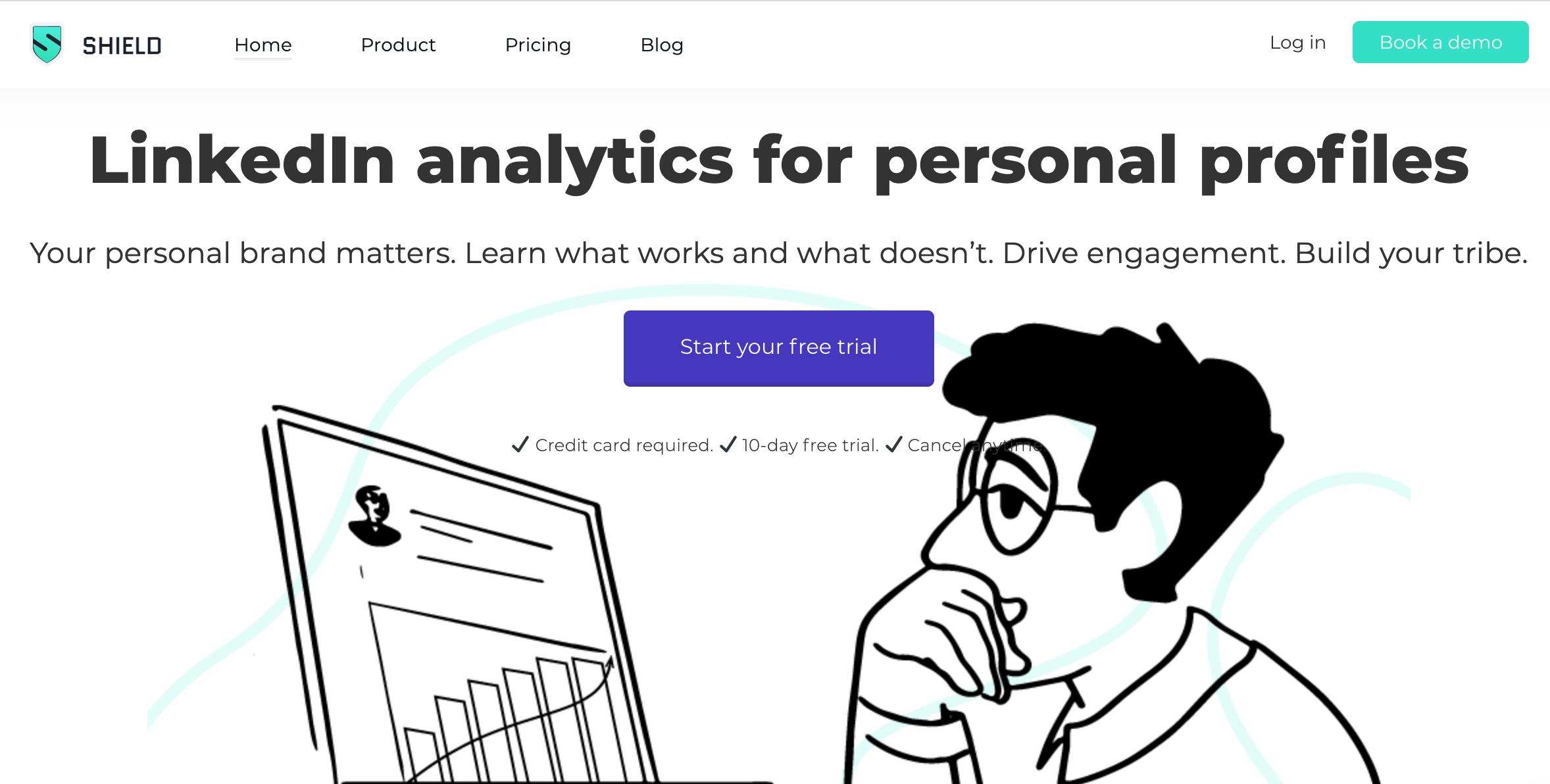 Shield App for LinkedIn analytics