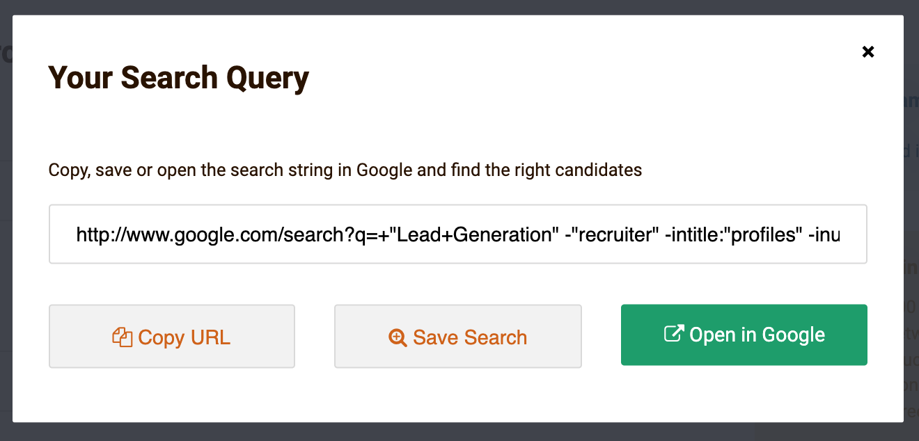 LinkedIn search in google Prospect Labs