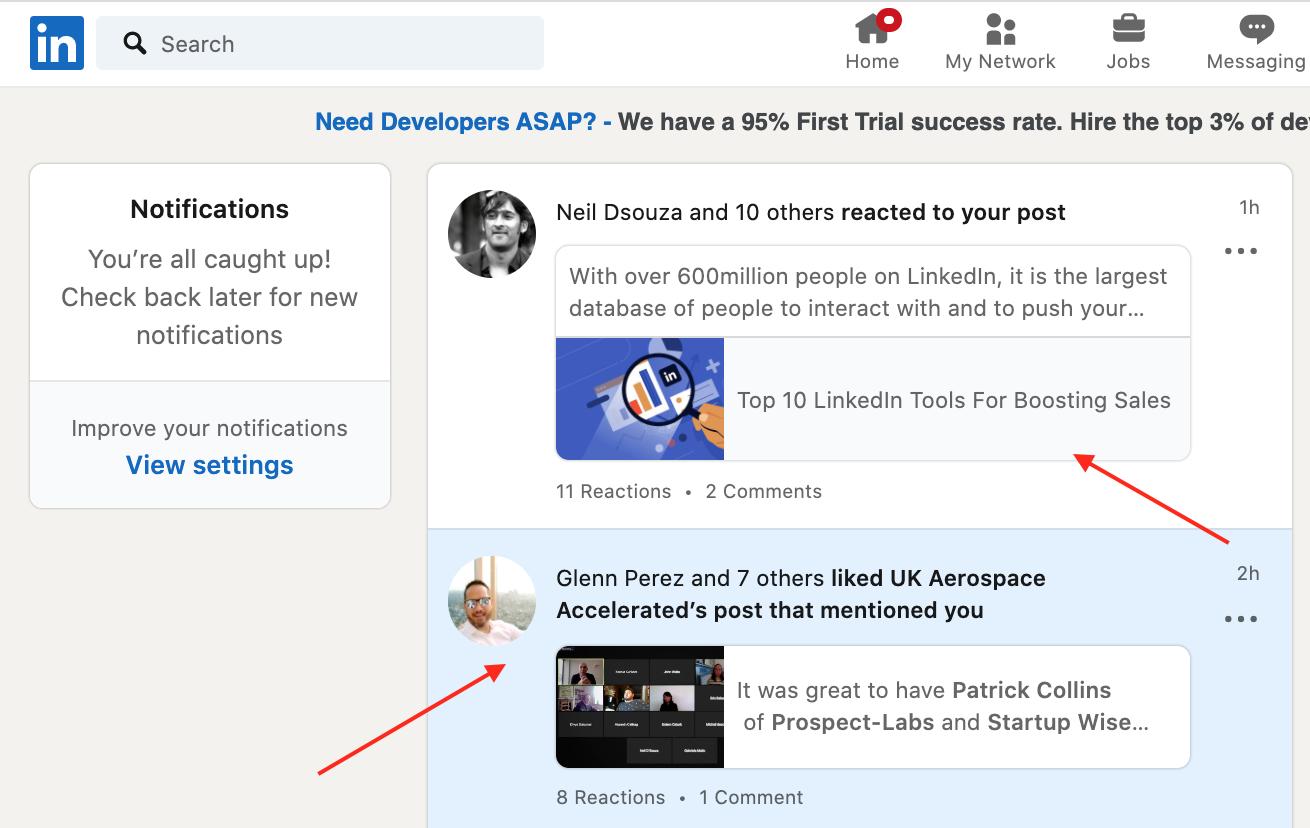 LinkedIn Notifications